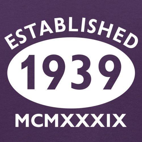 Gegründet 1939 Römische Ziffern - 78 Geburtstag - Herren T-Shirt - 13 Farben Lila