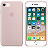 IPCASE Cover iPhone 7/8, Custodia Antiurto Gomma Gel Silicone Liquido con Fodera Tessile Microfibra Morbida Custodia Silicone iPhone 7/8 Cover per Apple iPhone 7/8 (iPhone 7/8, Rosa Sabbia)