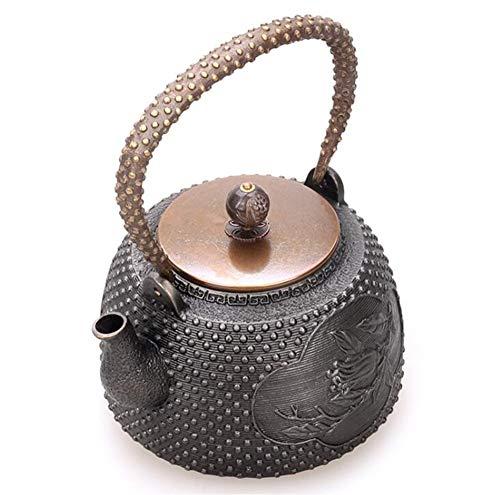 FJH Teekessel,Japanische Art-unbeschichtete handgemachte Roheisen-Teekanne 1.4L 5008