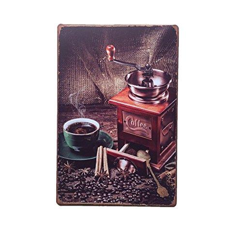 Placas Arte Cartel de Muestra Metal Vintage Decoración Pared Café Ca