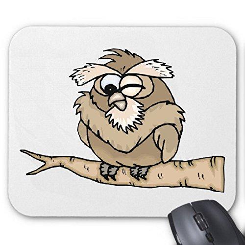 Mousepad (Mauspad) Eule beim Winken Cartoon Zeichentrick Spass Film Serie DVD für ihren Laptop, Notebook oder Internet PC (mit Windows Linux usw.)