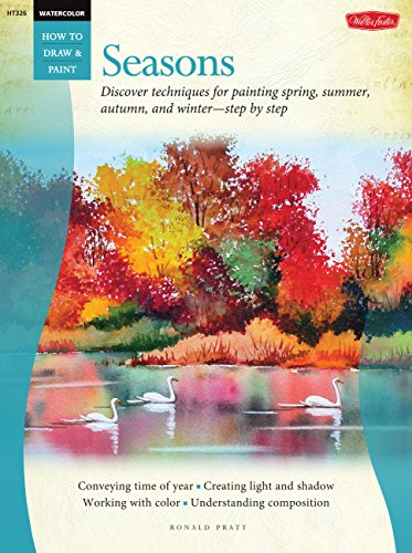 WaterColor Seasons: Discover techniques for painting spring, summer, autumn, and winter-step by step (How to Draw and Paint)