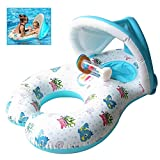 Come Baby Swim Ring,Swimming Ring,Mother Baby Pool Float,Inflatable Baby Swim Ring,Float Adjustable Sunshade,Boat