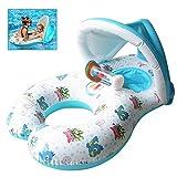 schwimmring Schwimmhilfen Schwimmen Ring für Baby von 6 Monaten bis 2 Jahre und Mutter,Sonnenschutz UV