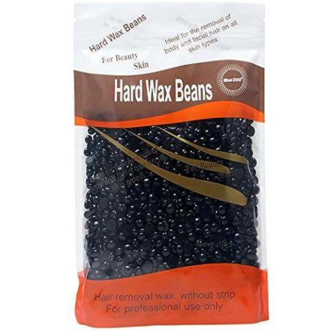 300g Hard Wax Beans, Ularma No Strip Depilatory Wax Hot Film Waxing Bean for Boby Facial Hair Removal