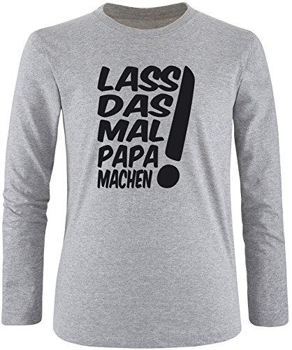 EZYshirt® Lass das mal den Papa machen Herren Longsleeve Grau/Schwarz