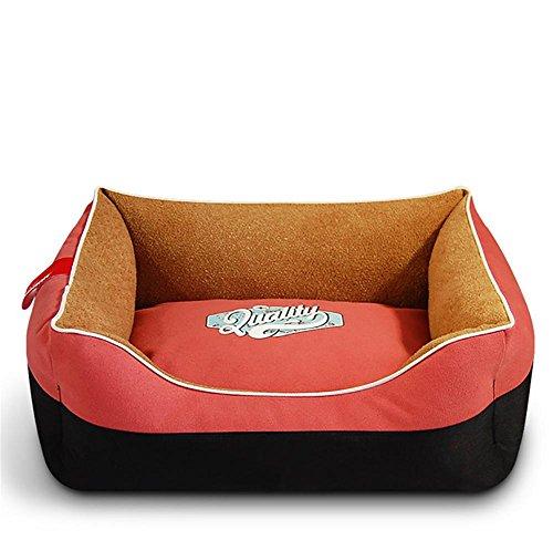 Ange Luxus-Easy-Clean Waschbare Hundebett, Premium Orthopädische Speicher Wasserdichte Hundebetten, pink, m