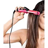 Qualimate Essential 2 in 1 Hair Straightener and Curler (Pink)