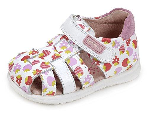 Garvalín 172321, Chaussures Premiers Pas Bébé Garçon différents coloris  (Blanc/Estampado Fresas/Sauvage)