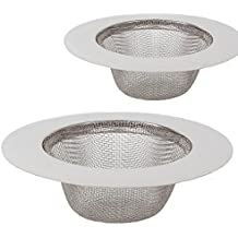 2 piezas de filtro de acero inoxidable,Mini colador del fregadero,Filtro del filtro del dren del fregadero del acero inoxidable,Filtro tamiz,Filtro de acero inoxidable Filtro de fregadero para fregadero para ducha, baño o cocina