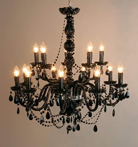 Kare design - Lustre gioiello crystal noire 14 branches