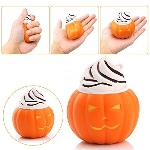 NY80Lmh Halloween Kürbis Eis Squishy Langsam Stressabbau Squeeze Spielzeug Geschenk