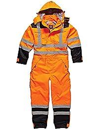 Dickies - Mono de seguridad impermeable de alta visibilidad SA7000 ORN3XL, talla XXXL, color naranja o azul marino, multicolor, SA7000 ORN M