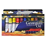 Daler Rowney Georgian - Juego de pinturas al óleo (10 unidades, 25 ml)