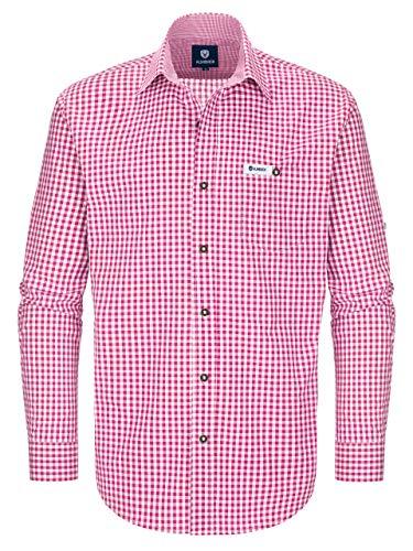 Almbock Trachtenhemd Herren Kariert | Slim-Fit Männer Hemd in Vielen Karo Farben | Hemd aus 100% Baumwolle...