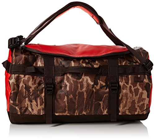 North Face Base Camp Duffel Borsone da viaggio, unisex adulto, Base Camp Duffel, Brown/Brunette Brown Catalog Print, 95 l