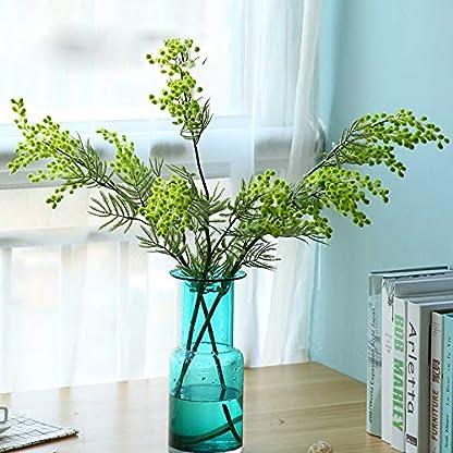rainbowhh Acacia Artificial Mimosa Amarilla Flor de Seda Falsa Fiesta de Bodas Decoración de Eventos Planta de Frijol Rojo para Navidad 88 cm 3 Ramas