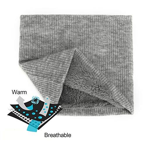 Amosfun sciarpa natalizia sciarpa calda invernale scaldacollo in peluche renna per bambine