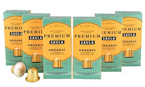 Premium Organic Gran Espresso   60 Aluminium Nespresso® Compatible Coffee Capsules from Award Winning Café Saula   6 x Packs of 10 51I4eeICgQL