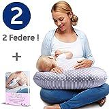 Royal Baby Cuscino Allattamento Neonato con 2 Federe Puro Cotone Certificate Oeko Tex - Sostiene il Bimbo e Mantiene la Forma - Ebook Allattamento formato PDF.