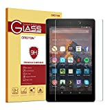 "OMOTON Nouvelle Fire HD 8"" (20,3 cm) Film Verre Trempé, Protection Ecran Amazon New Fire HD 8 Clear[sans Bulles][9H]"