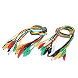 """KKmoon 20PCS Double-Ended Alligator Clips Test Insulated Leads Cable Wire 20"""""""