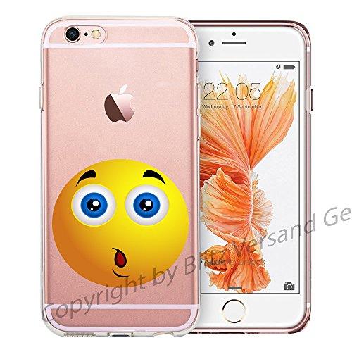 Blitz® EMOJI motifs housse de protection transparent TPE caricature bande iPhone Rire tranquille M12 iPhone 7PLUS Oh M15