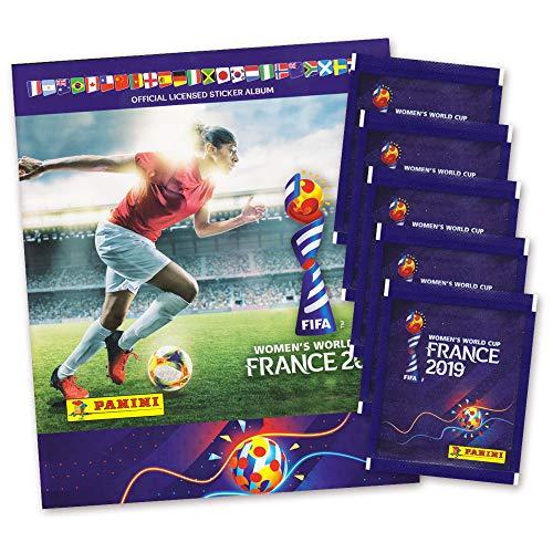 Fußball FIFA Frauen WM 2019 Sticker - Frankreich Women's World Cup Sammelalbum + 5 Booster (Fußball-wm-sticker)