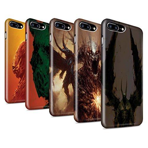 Offiziell Chris Cold Hülle / Glanz Snap-On Case für Apple iPhone 7 Plus / Herzensucher Muster / Wilden Kreaturen Kollektion Pack 6pcs