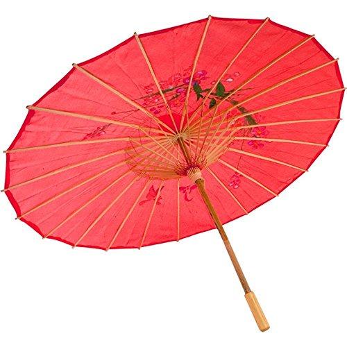 Asiatische Kostüm Zubehör - Dasuke Chinese geölte Papier Sonnenschirm Bambus Regenschirm regensicher handgefertigte chinesische geöltem Papier Regenschirm (Red)