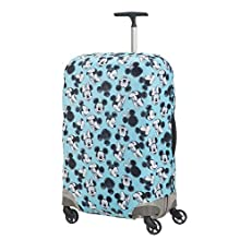 Samsonite Global Travel Accessories Disney Lycra Luggage Cover M, Blue (Mickey/Minnie Blue)