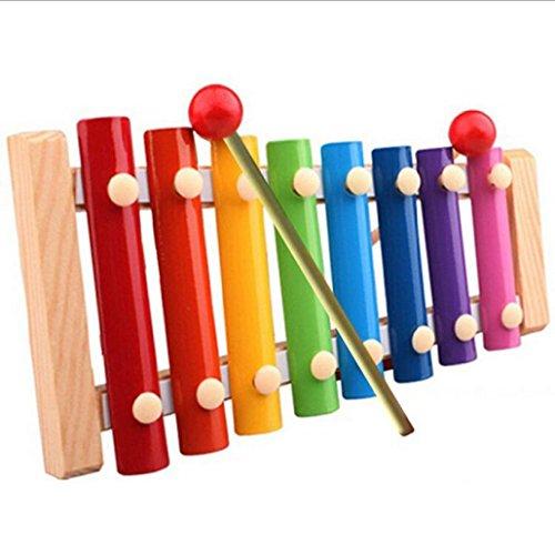 Elecenty Holz Kinder Xylophon Kinder Musikinstrument Spielzeug Musical Spielzeug Holzspielzeug Musikinstrument Lernspielzeug Glockenspiel Pädagogische Entwicklung Spielzeug Geschenke (22.5cm, Bunte)