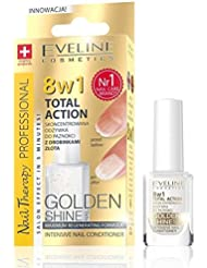 Eveline Cosmetics 8in1 Total Action Nagel Conditioner mit Goldpartikeln, 1er Pack (1 x 12 ml)