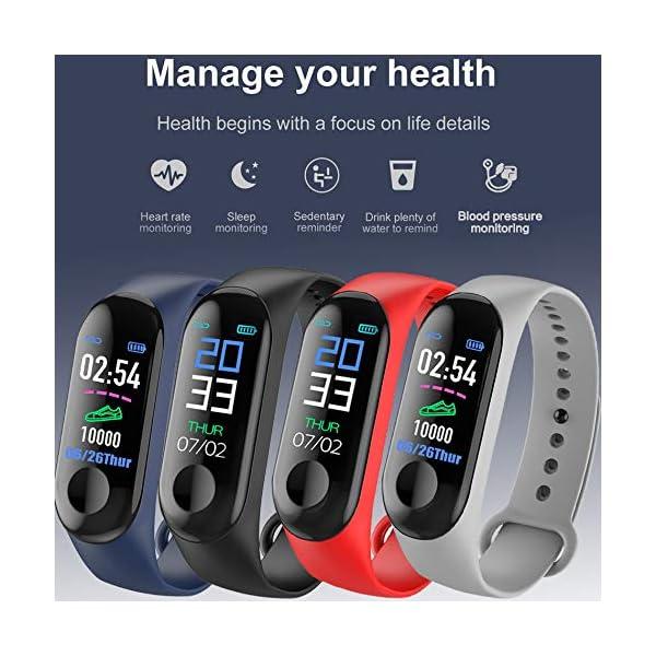 Aubess Pulsera Inteligente Fitness Tracker, M3, Pantalla táctil de Color, Impermeable, IP67, GPS, Monitor de sueño… 5