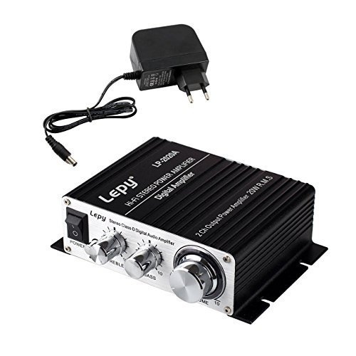 LEPY LP-2020A HiFi (2X 20 Watt) Stereo Design Verstärker für MP3/Handy/DAC schwarz