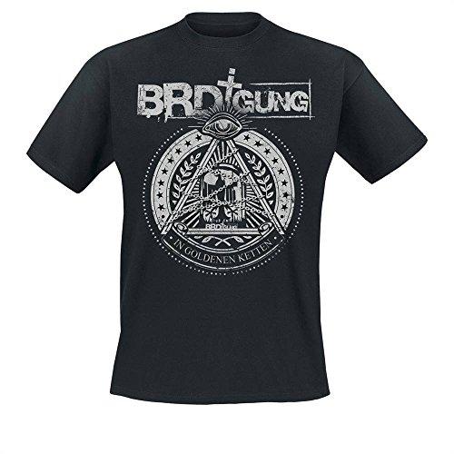 BRDigung - In Goldenen Ketten T-Shirt mit Rückendruck Schwarz