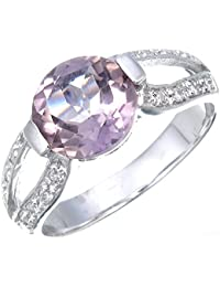 Sterling Silver Purple Amethyst Ring (1.85 CT)