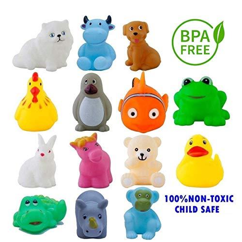 Khelani Chu Chu Bath Toys for Baby Non-Toxic Toddler Set Multi Color