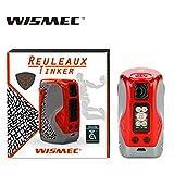 WISMEC Reuleaux Tinker 300 W TC MOD Cigarette électronique Vape Vaporizer Support Réservoir Colonne Pas de batterie Pas de Nicotine, Pas de Liquide E (rouge)