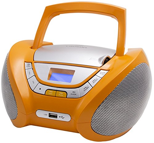 CD-Player | Tragbares Stereo Radio | Kinder Radio | Stereo Radio | Stereoanlage | USB | CD/MP3 Player | Radio | Kopfhöreranschluss | Aux in | LCD-Display | Batterie Sowie Strombetrieb | (Orange)