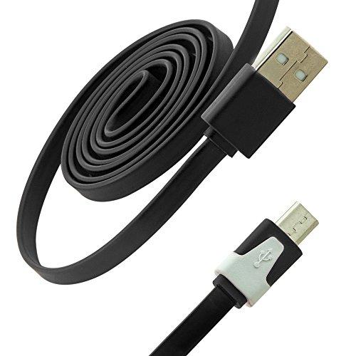 C.D.R. 1m 2.0 Micro USB High Speed Ladekabel Datenkabel Ladegerät Daten Lade Flat Kabel für DOOGEE X5, DOOGEE Y100 PRO, DOOGEE Y100X, DOOGEE DG280 TIMMY E86, TIMMY M7, LANDVO L500, LANDVO L500S, SWEES, LENOVO A616, LENOVO A816, OUKITEL ORIGINAL ONE, OUKITEL ORIGINAL ONE DUAL SIM, OUKITEL U2, TAKWAK TW700 OUTDOOR, SAMSUNG GALAXY J1 j100H, BLACKBERRY P9982 PORSCHE in 8 verschiedenen Farben erhältlich (schwarz)