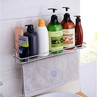aevel Badregal Edelstahl Dusche Caddy Rack wiederverwendbar rostfrei Shampoo Dusche Schaumstoff Organizer Küche Aufbewahrungskorb mit Superlock Saugnapf Metallarbeiten stabile