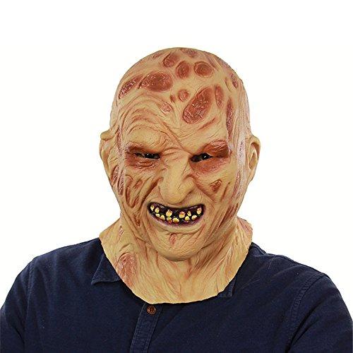 Yxsd Halloween Ghost Festival Außenhandel Latex Feuer Brennendes Gesicht Carrion Kopfbedeckung Horror Faules Gesicht Zombie Zombie ()