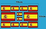 Ecoshirt EN-QS3E-D8CP Autocollants Drapeau d'Espagne F207 D Stickers Aufkleber Decals Moto GP Bike Voiture, Bord Noir