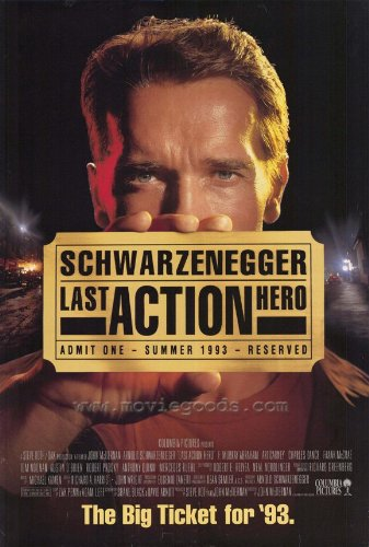 Affiche 'Last Action Hero', Movie 11 x 17 à 28 x 44 cm-Arnold Schwarzenegger Austin O'Brien Mercedes Ruehl Murray Charles F. Abraham Dance Anthony Quinn