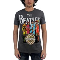 Beatles, motivo: Sgt Pepper-Maglietta a maniche corte, da uomo, colore: carbone - Beatles Revolution T-shirt