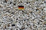 Doubleyou Geovlies & Baustoffe 1kg bis 30 kg Aquariumkies - Made in Germany - Quarzsand -Taunusquarz grau Weiss,8-16 mm (1 kg)