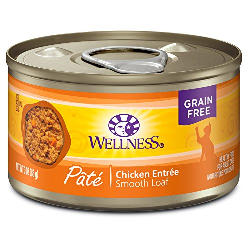 Wellness Complete Health Natural Canned Grain Free Wet Cat Food, Chicken Pate, 3-Ounce Can by Wellness Natural Pet Food