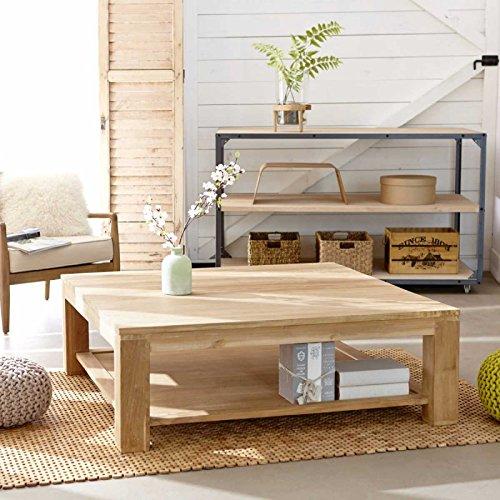 BOIS DESSUS BOIS DESSOUS Table basse carrée en bois de teck 120