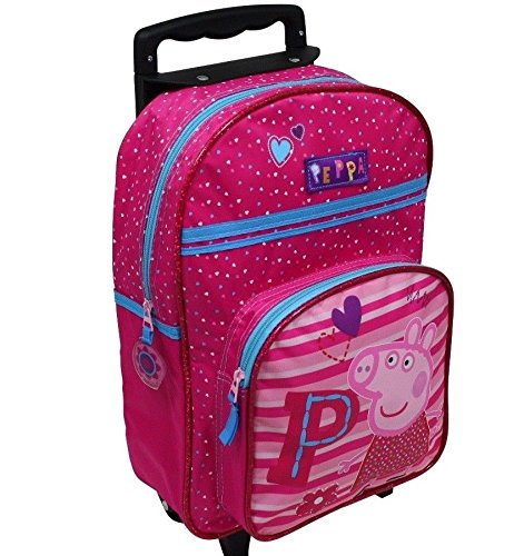 Spielwaren Klee Peppa Wutz Pig Trolley Rucksack Kindertrolley Koffer Tasche Handgepäck Pink 8530